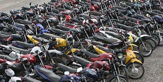 300 motos em leilão do Detran