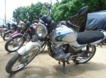Leilão de motos tem Yamaha YBR 125E com lance inicial de R$500
