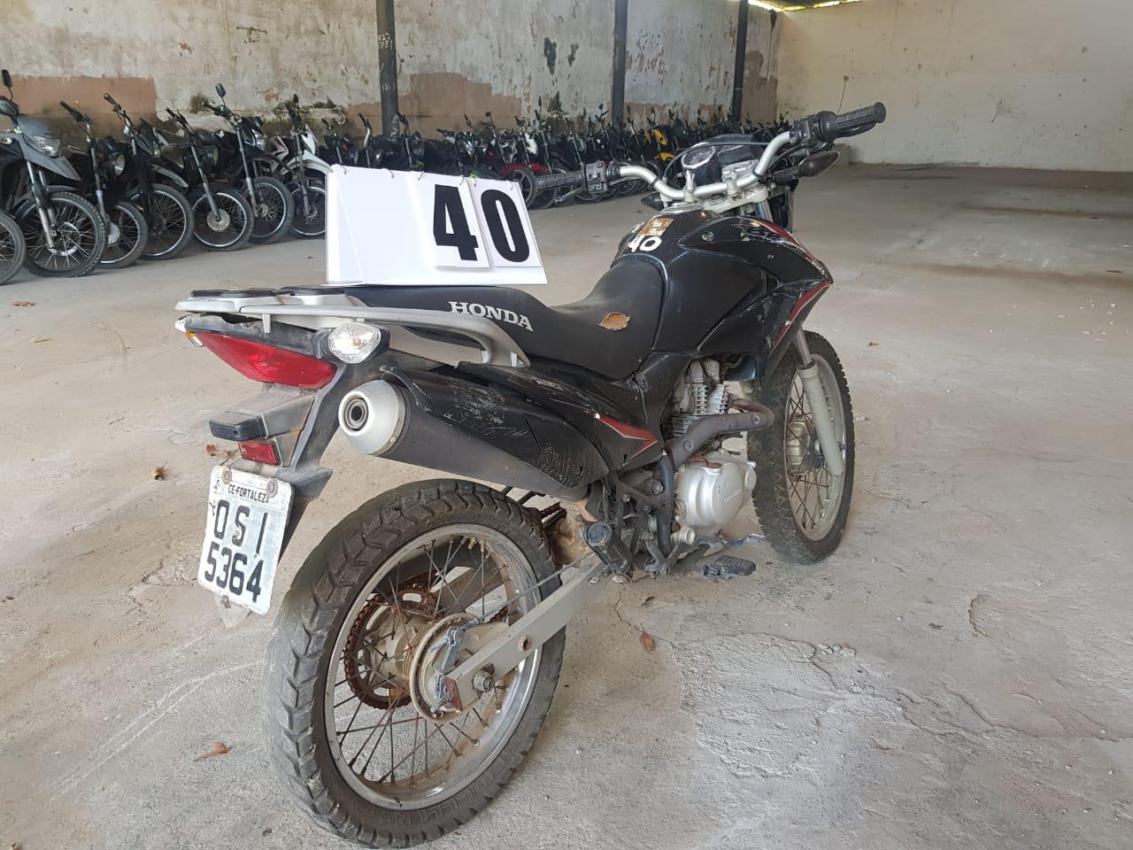 Leilão da Prefeitura tem Honda NXR 125cc Bros KS a R$ 500 reais