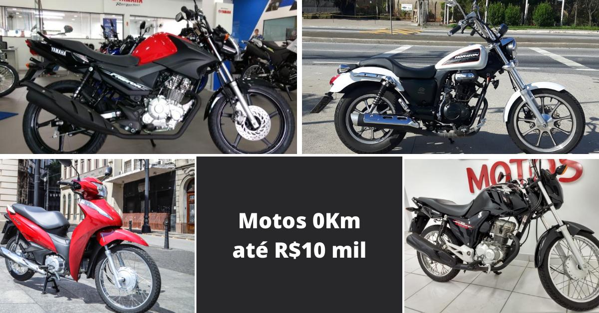 Motos 0Km até R$10 mil