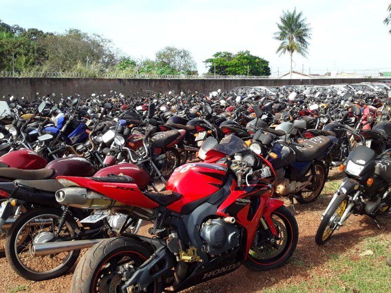 Leilão do Detran com 200 motos que podem circular
